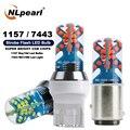 NLpearl 2x Signal Lampe 1157 Bay15d Led P21/5w Auto Bremse Licht COB SMD Strobe Flash T20 7443 w21 5W Led Auto Blinker Lampe 12V