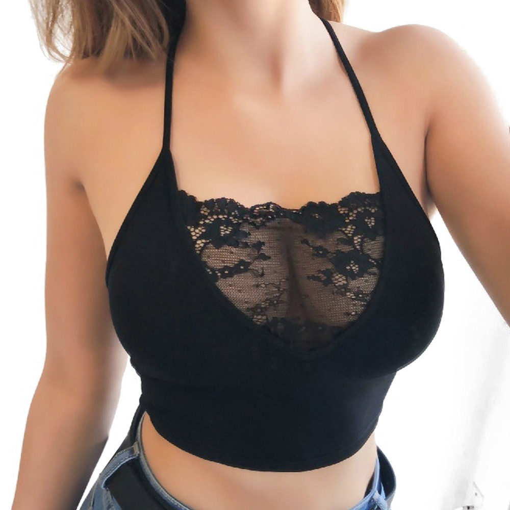 New Fashion Women Sexy Lingerie Strappy Bras Sleeveless Lace Crop Tops Sexy lingerie for women erotic нижнее белье для секса Y1