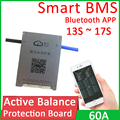 13S ~ 17S активный баланс литиевая батарея BMS Защитная плата 60A непрерывный ток Smart Bluetooth APP Lifepo4 Li-Ion 14S 16S