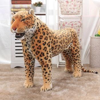 Simulation Leopard Stuffed Animals Simulation Plush Toy Huge Stuffed Toys Giant Pillow Christmas New Year Gift Children AA50MR