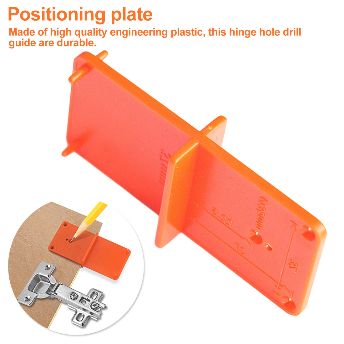 35//40mm Hinge Hole Drilling Guide Locator Hole Opener Template Door Cabinet Tool
