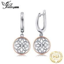 JewelryPalace Celtic Knot Dangle Drop Earrings 925 Sterling Silver Earrings for Women Korean Earrings Fashion Jewelry 2020