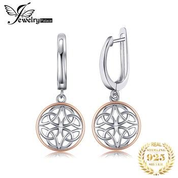 JewelryPalace Celtic Knot Dangle Drop Earrings 925 Sterling Silver Earrings for Women Korean Earrings Fashion Jewelry 2021