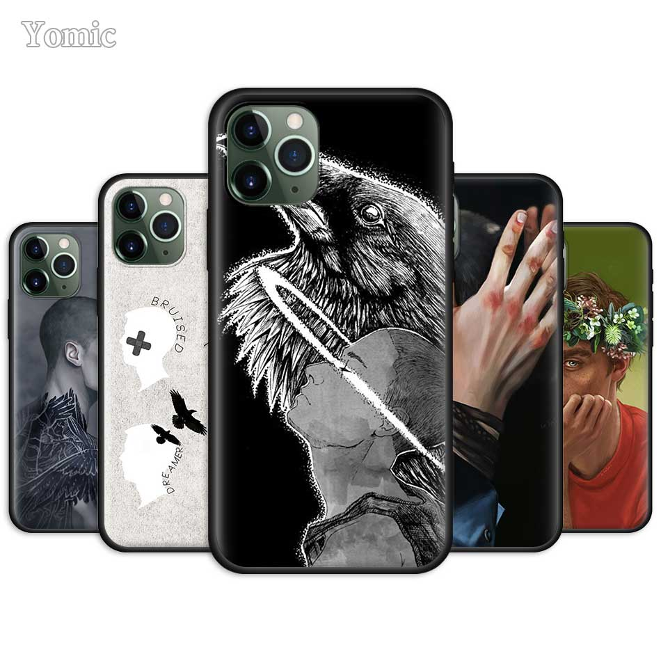 The Raven <font><b>Boys</b></font> Fitted <font><b>Case</b></font> <font><b>for</b></font> Apple <font><b>iPhone</b></font> 11 Pro 7 8 6 6S Plus X XR XS MAX <font><b>5</b></font> 5S SE Black Silicone Soft Phone Cover image