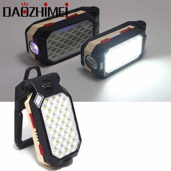 Portable Fishing COB Light Waterproof Rechargeable LED Work Light Built-in Battery Car Repairing Magnet Inspection Lamp image