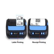 Impressora térmica, impressora térmica de 3 polegadas receptora/etiqueta 2 em 1 posição impressora 80mm bluetooth android/ios/windows para impressora pequena do esc/pos
