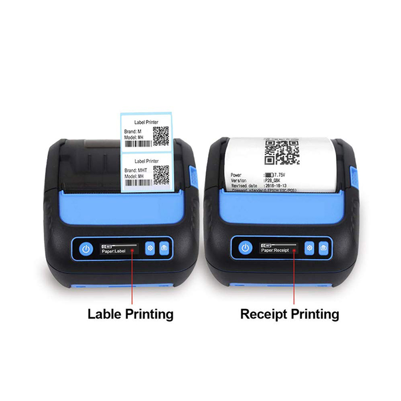 Thermal Printer 3 inch Receipt/Label <font><b>2</b></font> in <font><b>1</b></font> POS Printer 80mm Bluetooth Android/iOS/Windows for Small Business ESC/POS Printer image