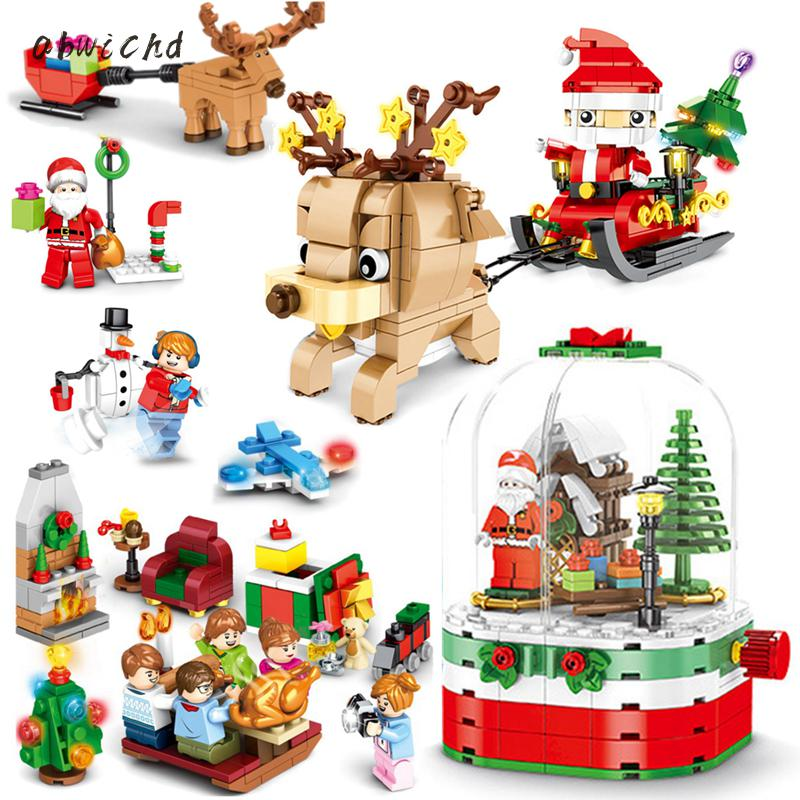 Creative Educational Building Blocks Toys For Children 6Years DIY Present Sembo Christmas Theme Series Small Bricks 601090 B952 image