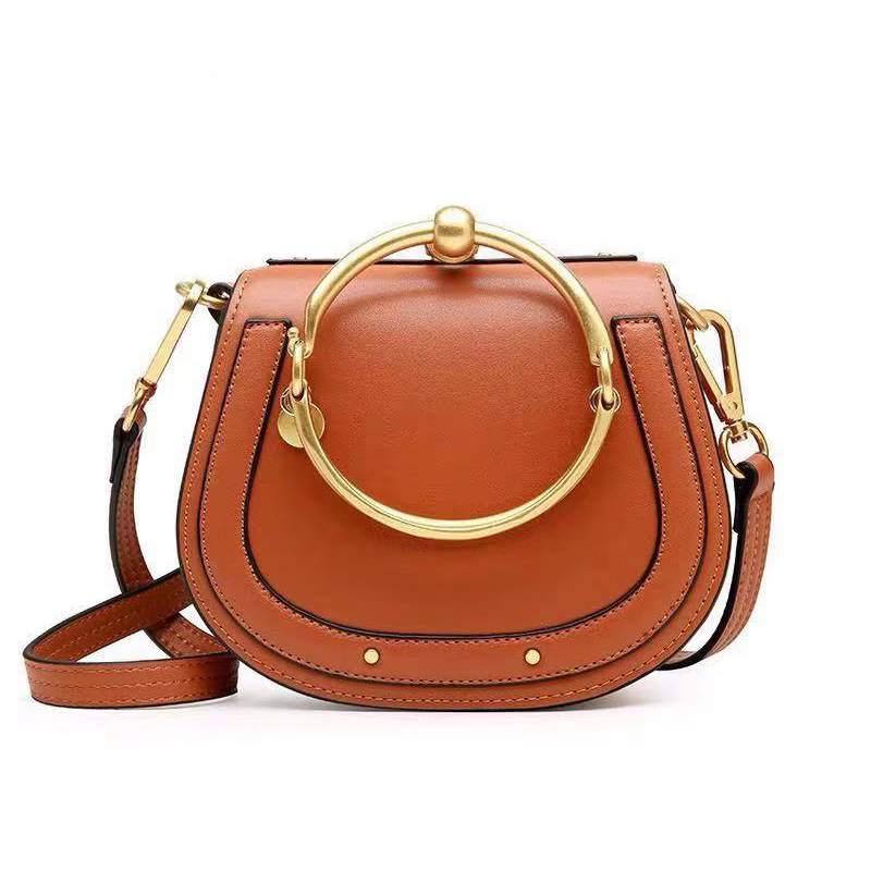 Luxury Handbags Women Bags Designer Shoulder Bag Round Handbag Fashion Crossbody Bag Genuine Leather Purse Ring Ladies Bag