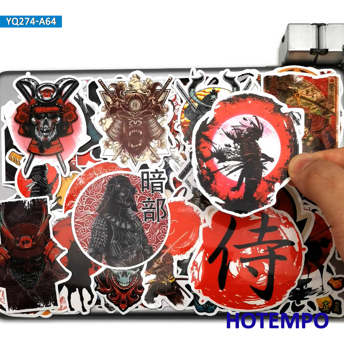 60pcs Japan Samurai Bushido Spirit Style Art Stickers for Mobile Phone Laptop Guitar Suitcase Skateboard Bike Car Decal Stickers