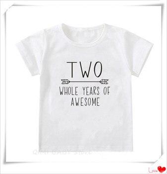 2nd cumpleaños camisa bebé niño 2 años Niño niño segundo dos camiseta fiesta Casual Ropa Camisetas hermanos Wear