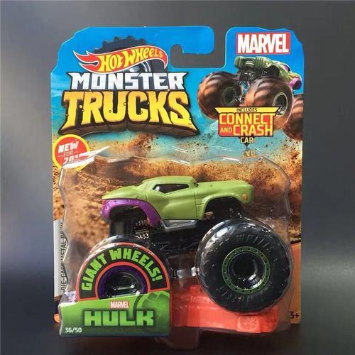 1: 64 оригинальные горячие колеса гигантские колеса Crazy Barbarism Монстр металлическая модель грузовика игрушки Hotwheels большая ножная машина детский подарок на день рождения - Цвет: 36