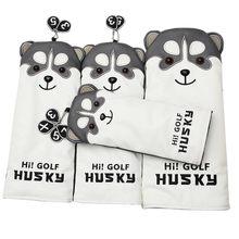 Head-Cover Golf-Driver Husky Cartoon-Animal 7-Woods -5 Lovely -1 -3