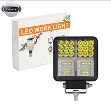 LKT 192W 64Led robocza listwa oświetleniowa samochodowe reflektory Led 12V 24V lampy błyskowe robocze 4x4 Offroad akcesoria ciągnik siodłowy