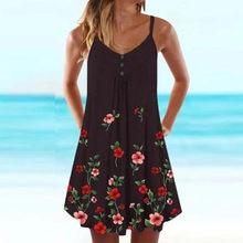 Moda feminina verão casual plus size impresso floral v-neck festa versátil vestido midi