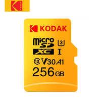 Kodak Micro tarjeta SD de alta velocidad de 32GB 64GB Clase 10 U3 4K cartao de memoria de 128GB tarjeta de memoria Flash 256GB mecard Micro sd kart