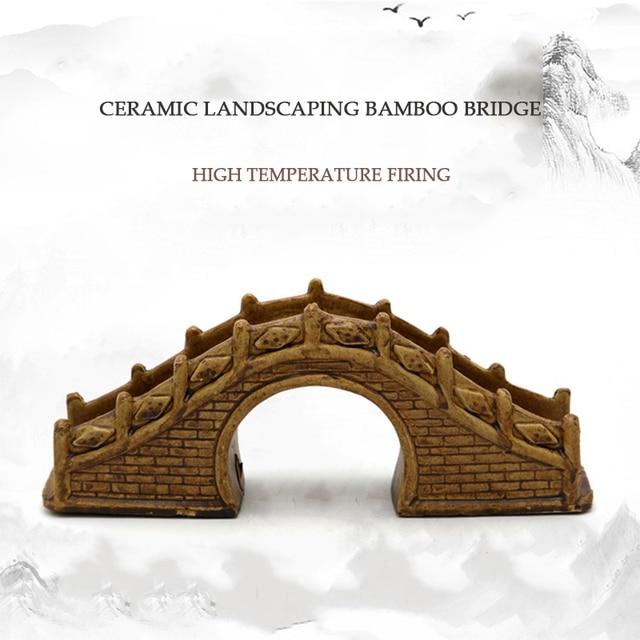 Ceramic Under Water Bridge Aquarium Deco 5
