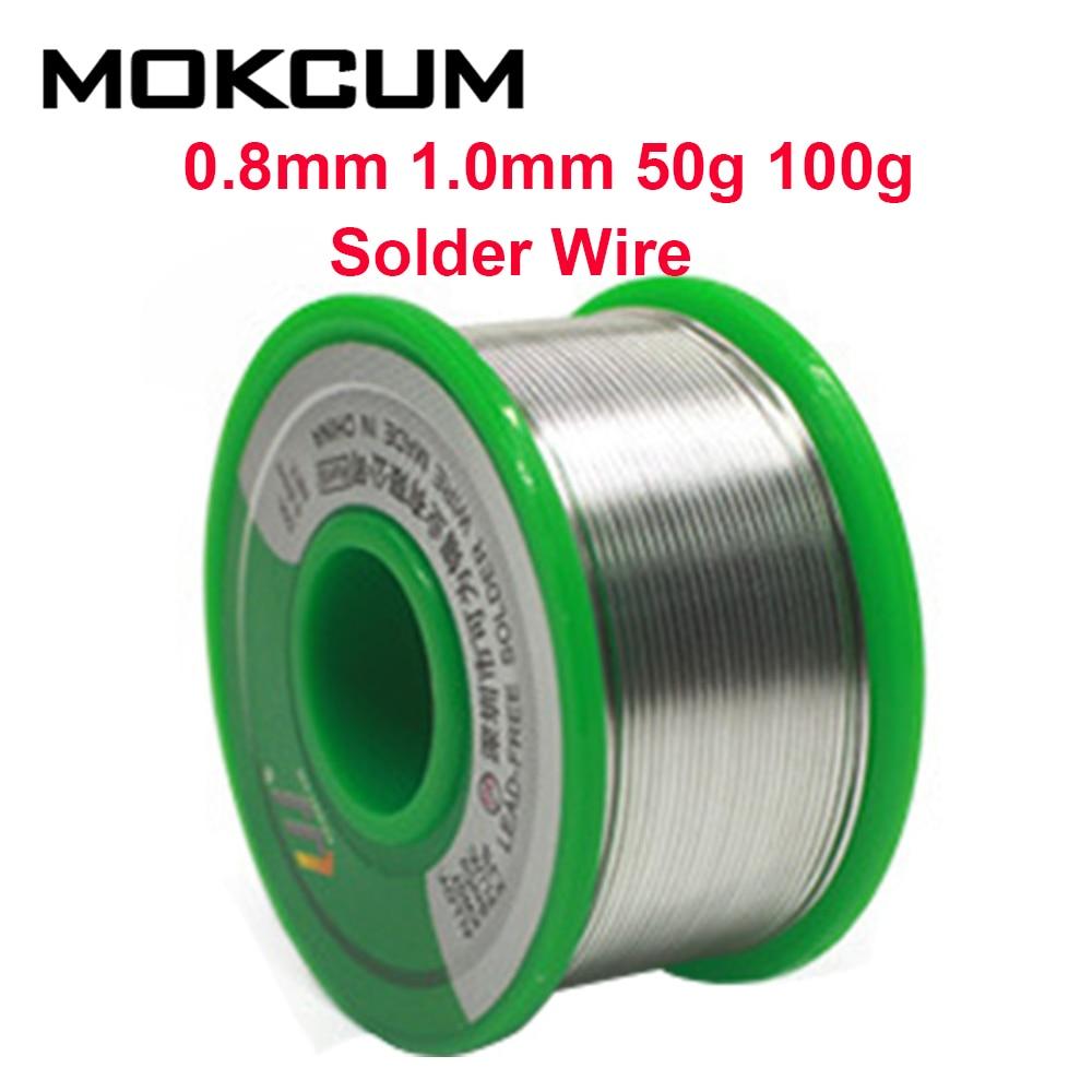 0.8mm 1.0mm 50g 100g fio de solda soldeer latão electronica soldeertin solda nenhuma pureza alta chumbo sn99.3cu0.7
