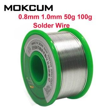 Alambre de soldadura de estaño, 0,8mm, 1,0mm, 50g, 100g, soldadura electrónica, Sn99.3Cu0.7