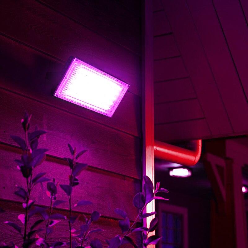 LED Grow Light Phyto Lamp AC 220V 50W LED Full Spectrum Floodlight Indoor Outdoor Greenhouse Plant Hydroponic Plant Spotlight 5