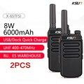 Переносная рация KSUN X65, устройство для двухсторонней радиосвязи, УВЧ, 10 км, 1 или 2 шт.