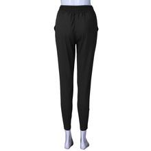 2019 moda kobiety wysoka talia Harem spodnie kobiety bandaż elastyczny pas paskiem dorywczo spodnie tanie tanio Pełnej długości COTTON Mieszkanie 2020 Stałe Na co dzień Suknem Luźne Kieszenie