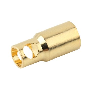 6.0 Female Gold Bullet Banana Plug Connectors RC Battery Electronic Hook Exquisitely Designed Durable Gorgeous image