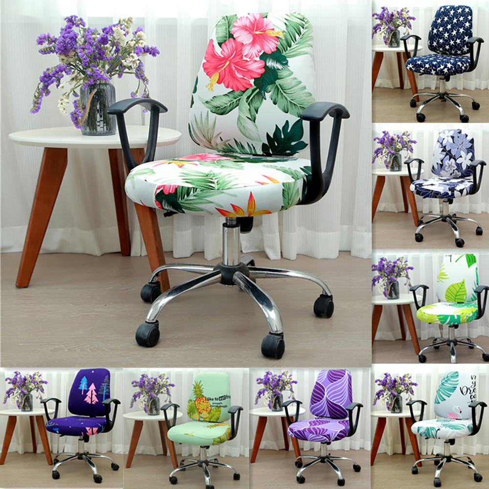 23 Colors Modern Spandex Computer Chair Cover 100% Polyester Elastic Fabric Office Split Chair Cover Easy Washable Removeable
