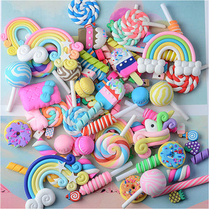20/30Pcs Polymer Clay Fimo Lollipop/Candy Toys DIY Craft Supplies Phone Shell Patch Material Decor Hair Accessories Slime Filler(China)