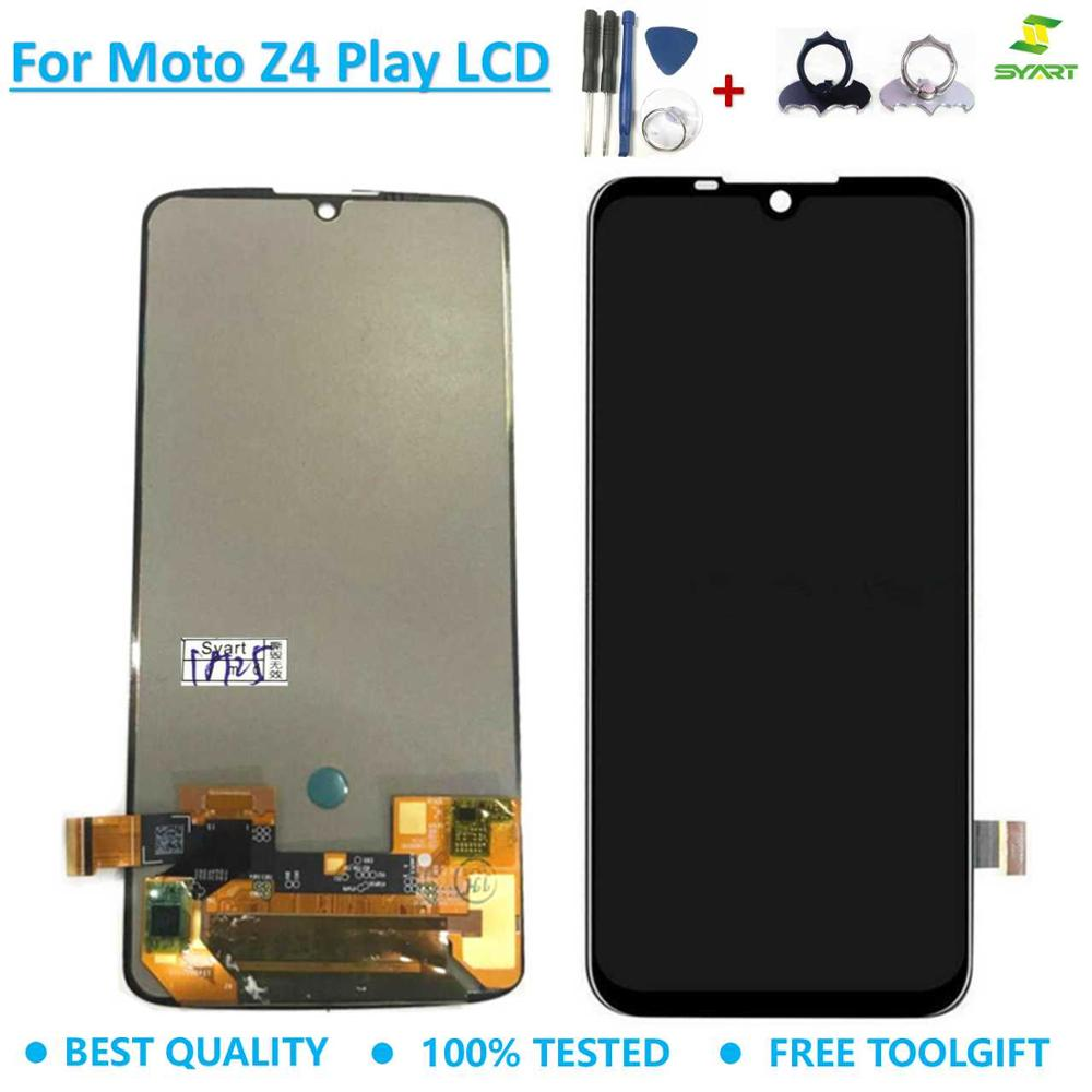 "Lcd Screen For Motorola Moto Z4 Play  XT1980 LCD Display Touch Digitizer Assembly+tool 6.22"" Black For Moto Z4Play lcds Replace"