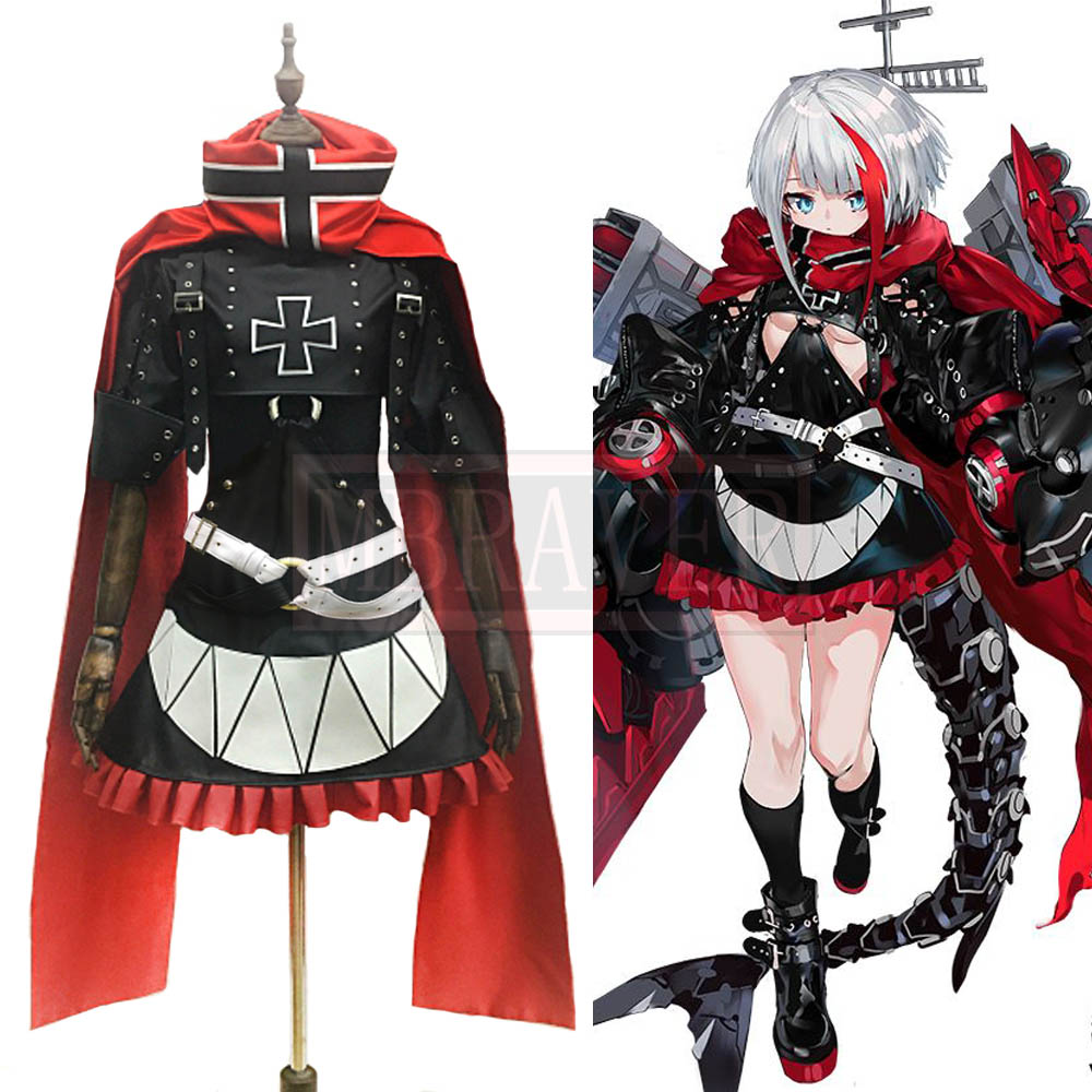 Azur Lane Admiral Graf Spee Cos Cosplay Costume Halloween Christmas Party Uniform Custom Made Free Shipping