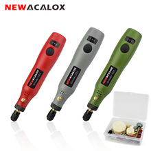 NEWACALOX Grinding Machine USB 5V DC 10W Mini Wireless Variable Speed Rotary Tools Kit Drill Engraver Pen for Milling Polishing