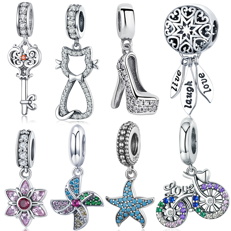 Hot Sale Genuine 100% 925 Sterling Silver Daisy Wings Pendant Charm Beads Fit Original Brand Bracelet Necklace Authentic Jewelry(China)