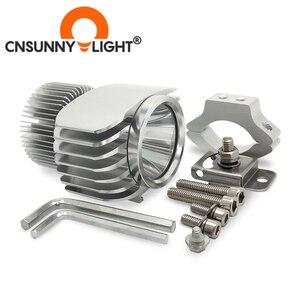 Image 5 - CNSUNNYLIGHT אופנוע LED פנס זרקור 18W 2700Lm סופר בהיר לבן Moto ערפל DRL פנס ציד הנהיגה