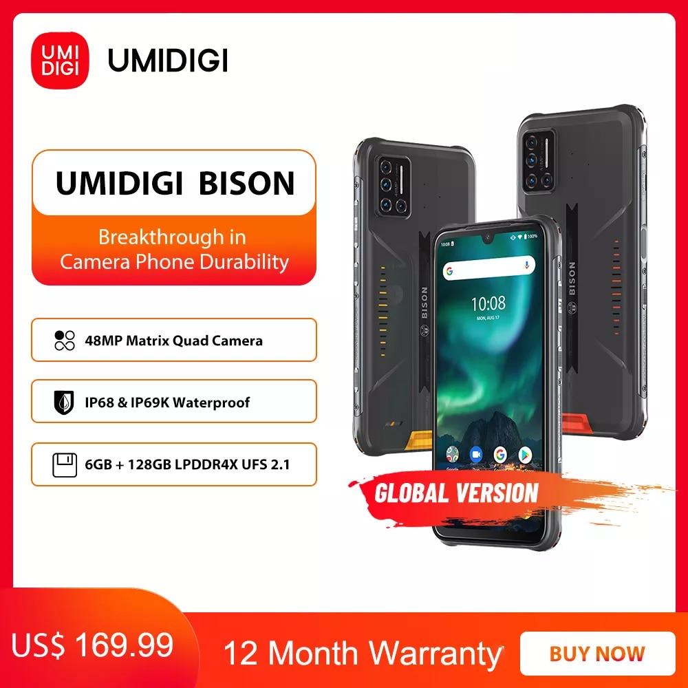 UMIDIGI BISON IP68/IP69K telefono robusto impermeabile 48MP Matrix Quad Camera 6.3  1
