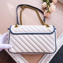 2020 new g g women's bag double g bag color matching white c