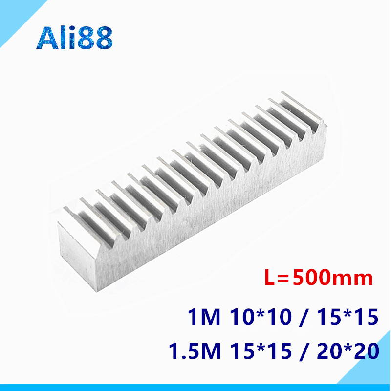1pc 1M 10*10 Spur Rack Pinion 1 Modulus High Precision Gear Rack Steel Precision Transmission Spur Rack Gear Linear Guide Rail