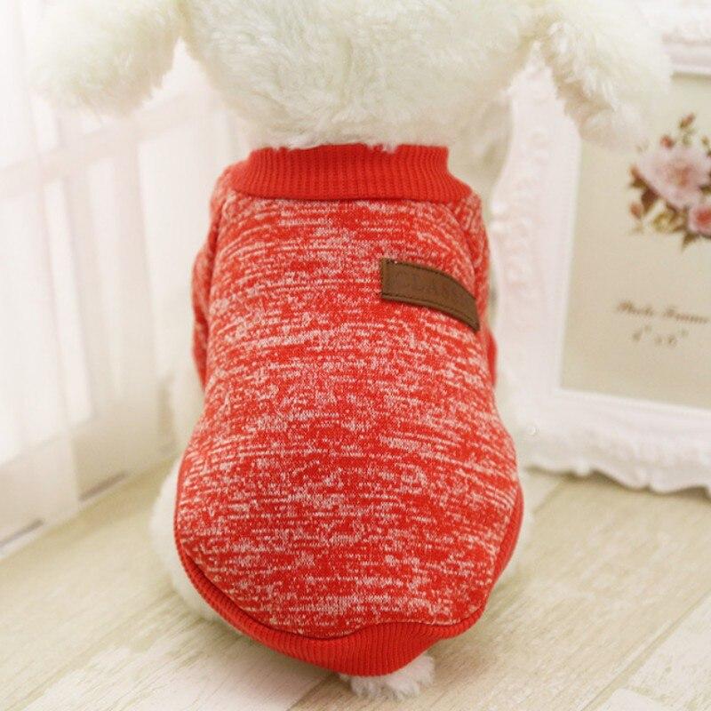 Одежда для собак, теплый свитер, мягкая куртка для чихуахуа, одежда для собак, одежда для щенков, куртка для собаки, зимняя одежда для маленьких собак - Цвет: Красный