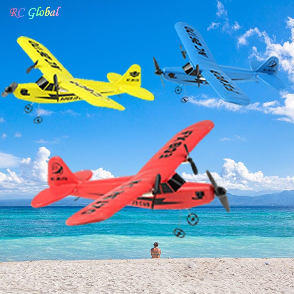 RC avion électrique télécommande avion RTF Kit EPP mousse 2.4G contrôleur 150 mètres vol Distance avion Global jouet chaud 6