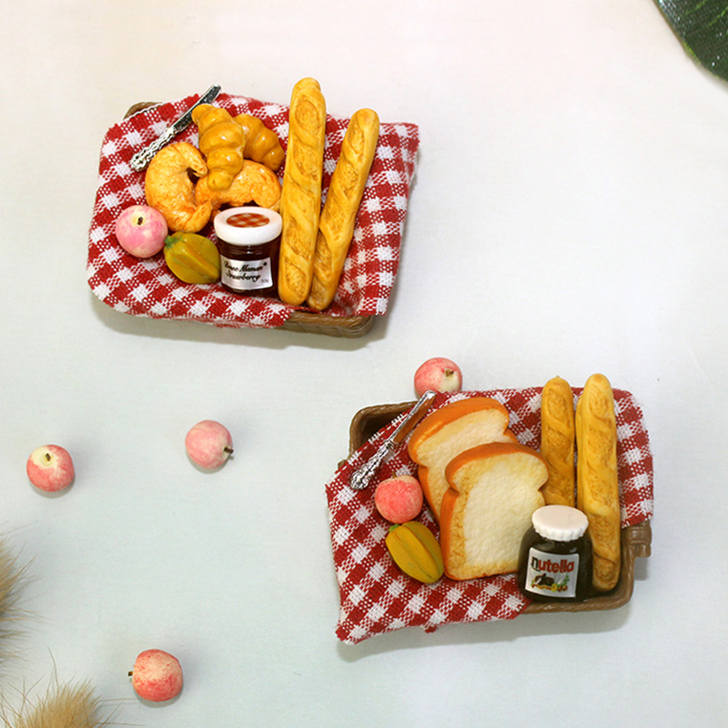 1/12 Bjd Miniature Picnic Toy Ob11 Bread Model 1: 6 Scale Doll House Toy Model Miniature Food Play Mini Bread Basket Kitchen Toy