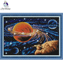 Joy Sunday,Milky way,cross stitch embroidery set,printing cloth embroidery,cross needlework,Scenery picture cross
