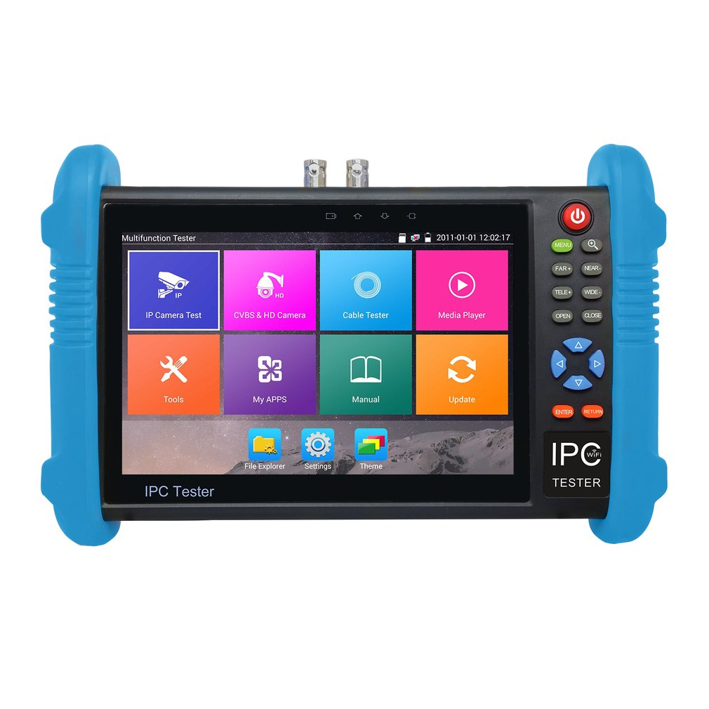 7 inch IPS Touch Screen H.265 4K IPC-9800 Plus IP Camera Tester CCTV CVBS Analog Tester Built in Wifi Dual Window Tester