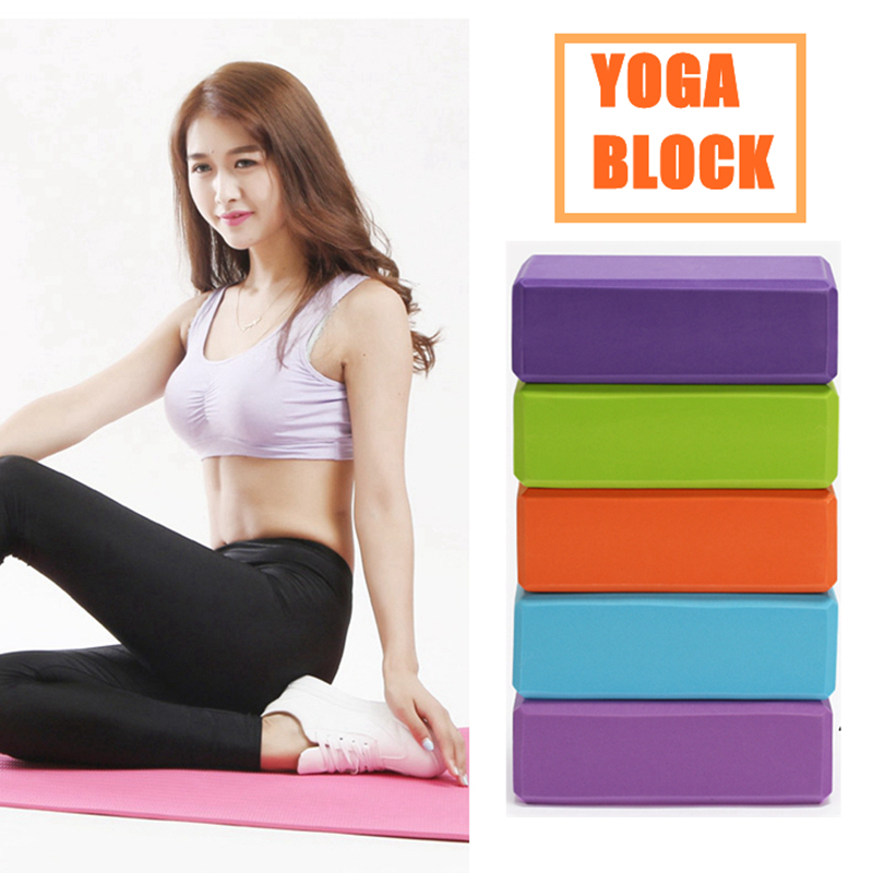 2PCS EVA Yoga Block Foam Brick Stretching Aid Gym Pilates For Exercise Fitness Shaping Health Training Yoga Bolster Pillow