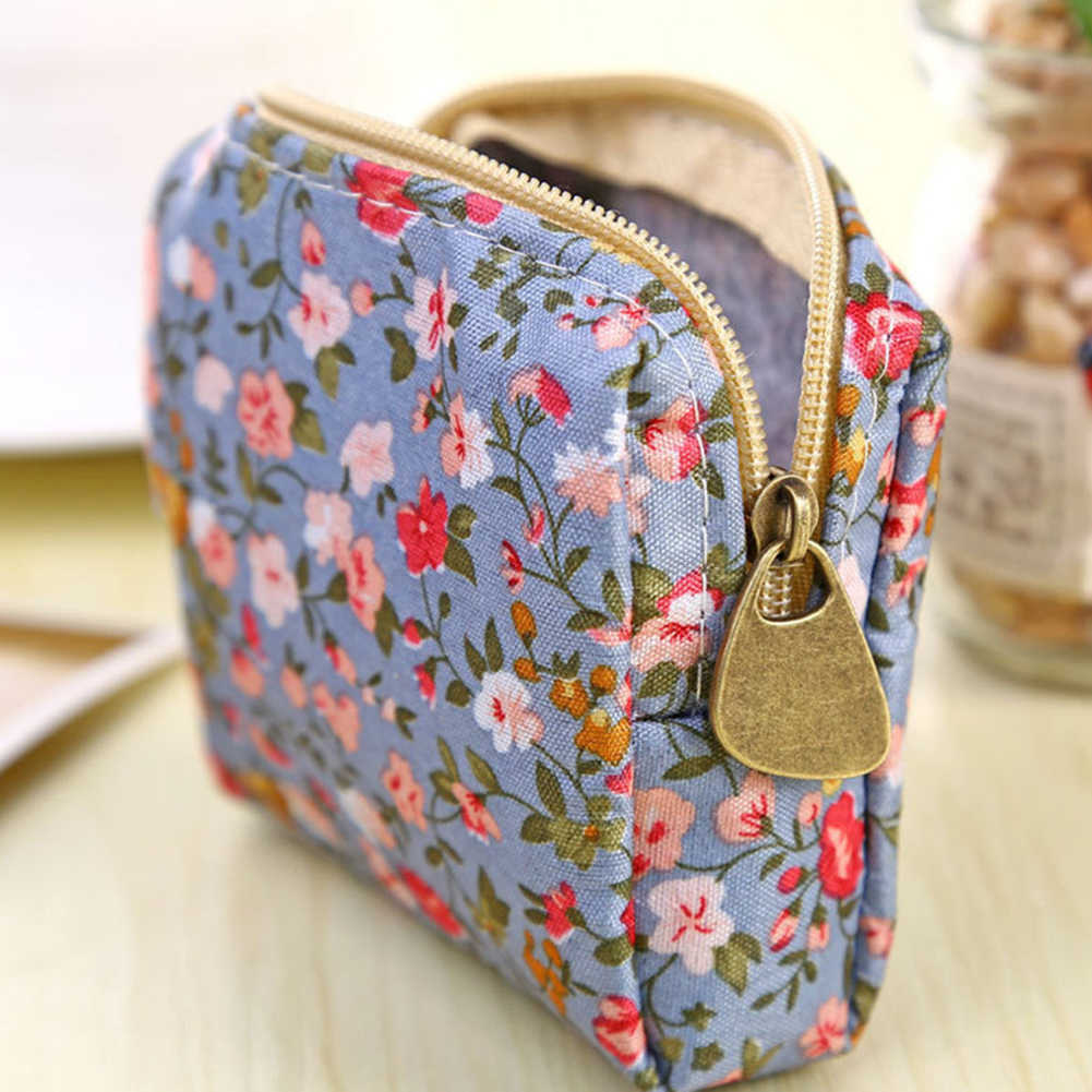 شعرت صغيرة سستة محفظة نسائية لتغيير النقود المعدنية محفظة أحمر الشفاه مخزن للمكياج حقيبة الحقيبة
