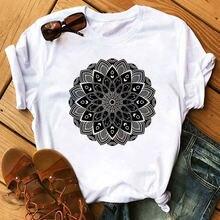 Женская свободная эластичная рубашка с эстетичным графическим