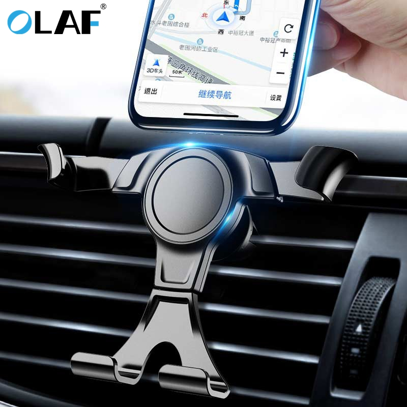 Olaf Gravity Car Phone Holder For Phone In Car Air Vent Clip Mount No Magnetic Mobile Phone Holder Cell Stand Support For IPhone