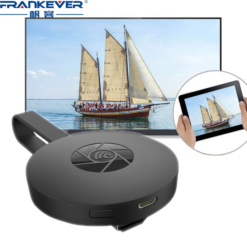 FrankEver Mobile Phone Screen Device G2 Apple Android HDMI Wireless Mini Projector Push USB Audio Home Media Video Switcher
