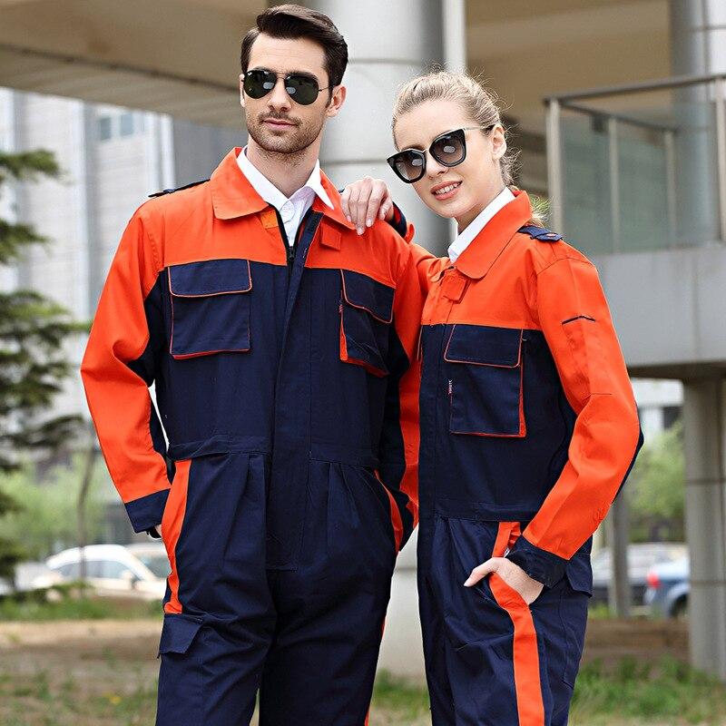 Working Overall Dust Proof Long Sleeve Coverall Wear Resistant Multi Pocket Uniform Waist Zipper Repairmen Mechanical Jumpsuits