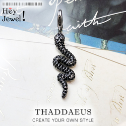 Pendant Black Snake,2019 Winter New Fashion Glam 925 Sterling Silver Jewelry Europe Style Fashion Accessorie Gift For Woman
