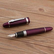 Luxo de alta qualidade jinhao 159 caneta tinteiro roxo prata fiação elegante assinatura caneta papelaria escritório material escolar novo